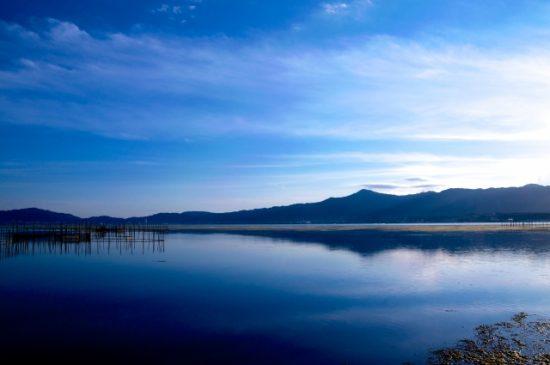 海のような滋賀県の琵琶湖