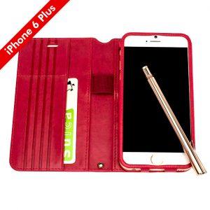 iPhone6sPlus、Su-Penホルダー付き最薄手帳型レザーケース