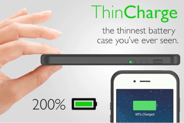 薄くて軽いiPhone6用のバッテリーケース「ThinCharge」が凄い!