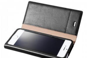 iPhone SE GRAMAS One-Sheet Leather2 ブラック