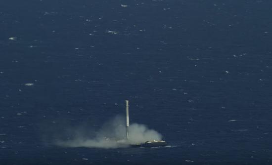 ロケットを飛ばし洋上に着陸4