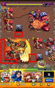 義侠に燃え立つ能面の英雄ボス戦第3ステージ