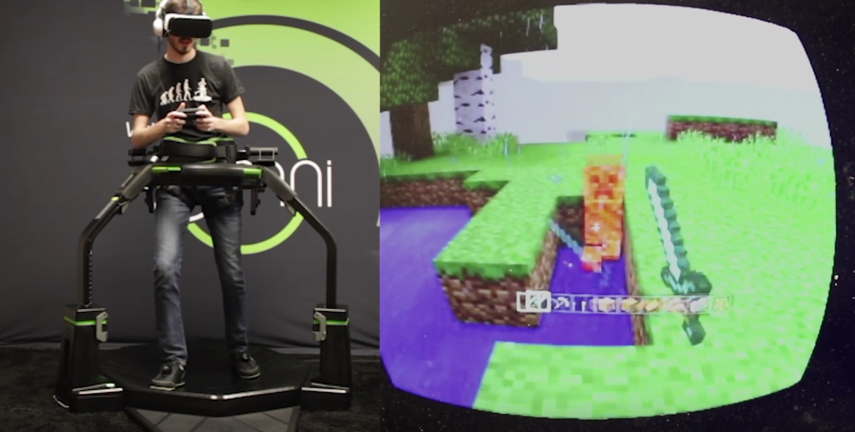VRで「Minecraft」の世界を体験出来る?Virtuix Omniを使ったゲームが面白そう!