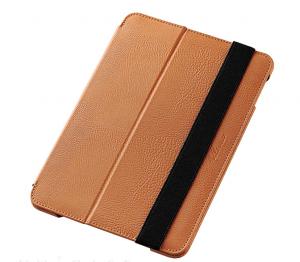iPad Mini 4カバーソフトレザーケース/2段階調節ブラウン