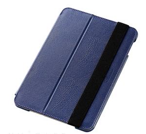 iPad Mini 4カバーソフトレザーケース/2段階調節ブルー