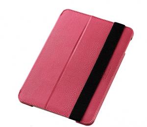 iPad Mini 4ソフトレザーケース/2段階調節ピンク