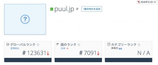 PUUL(プウル)のアクセス数
