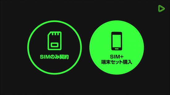LINEモバイルハSIMのみ、SIM+端末の両方がある