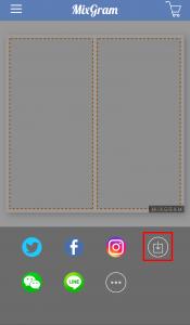 Mixgramで加工した写真を保存する方法2