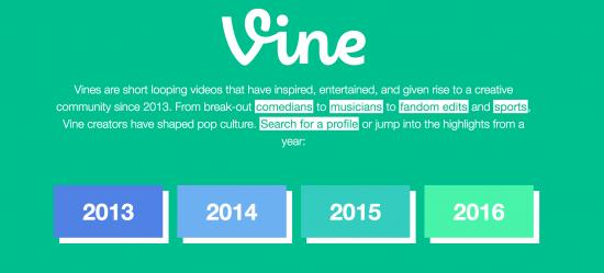 Vineに投稿された映像が見れる!