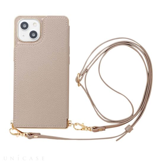【iPhone13 ケース】Cross Body Case for iPhone13 (beige)