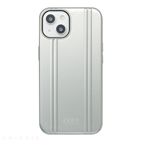 【iPhone13 ケース】ZERO HALLIBURTON Hybrid Shockproof Case for iPhone13 (Silver)